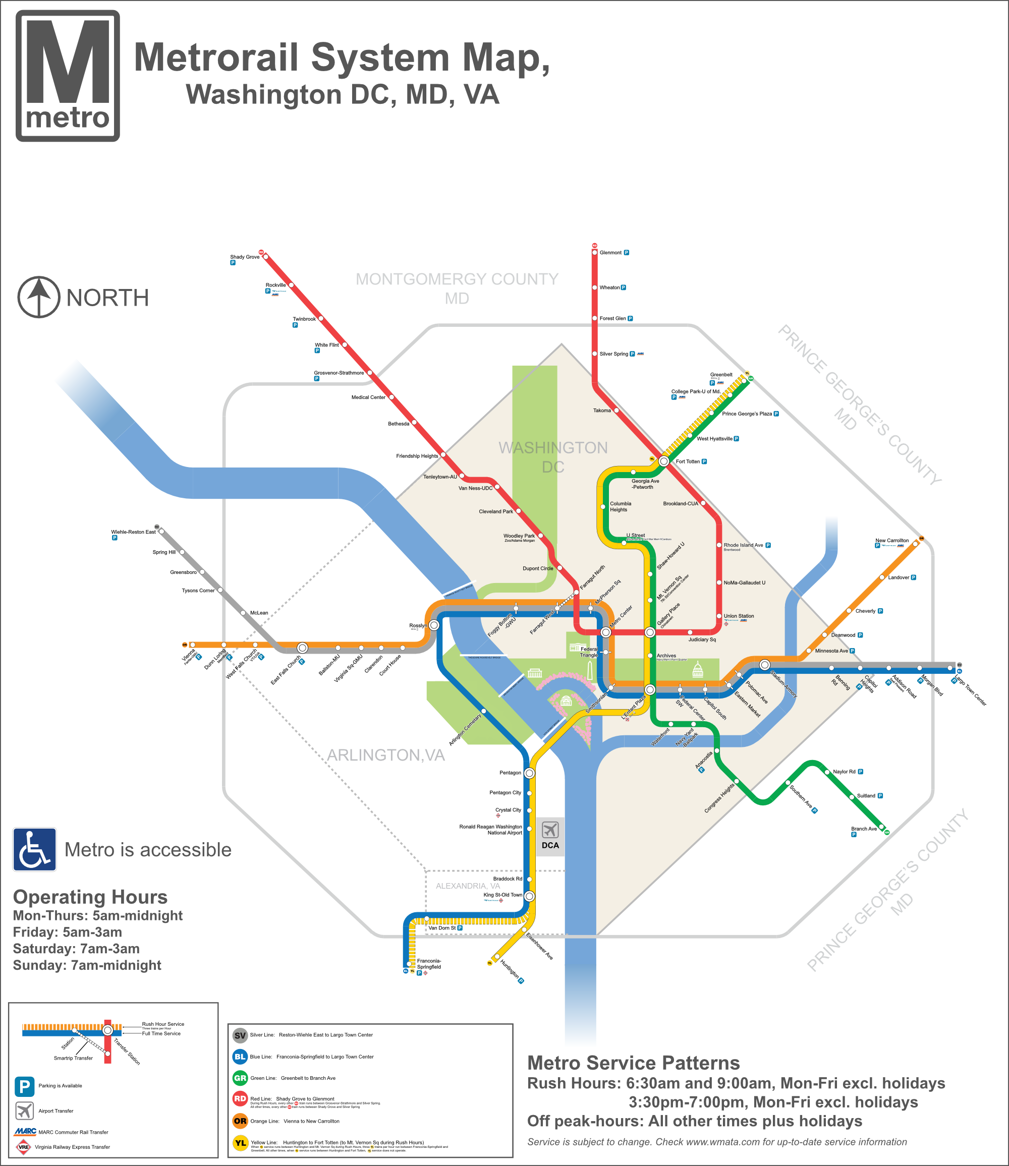 DC Metro Map - DC Transit Guide on